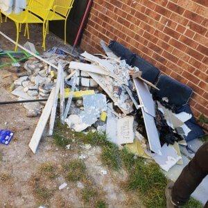 Garden rubbish removal before