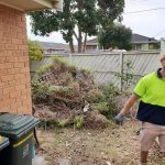 House garden rubbish removal before