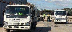 Bulldog rubbish removal trucks